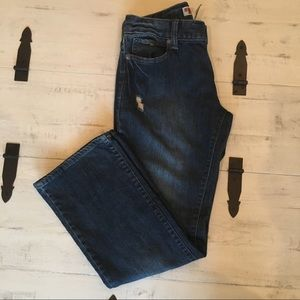 Gap Curvy Straight Distressed Jeans